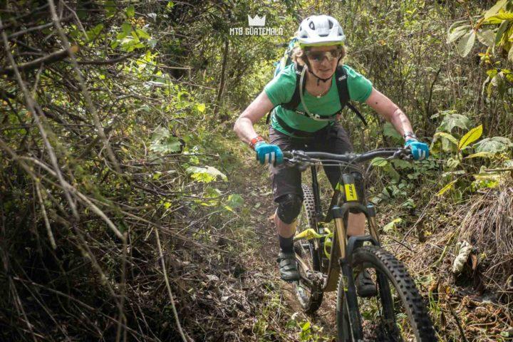 Cutting trail.  Valle Escondido Adventure MTB Tour  Chimaltenango, Guatemala
