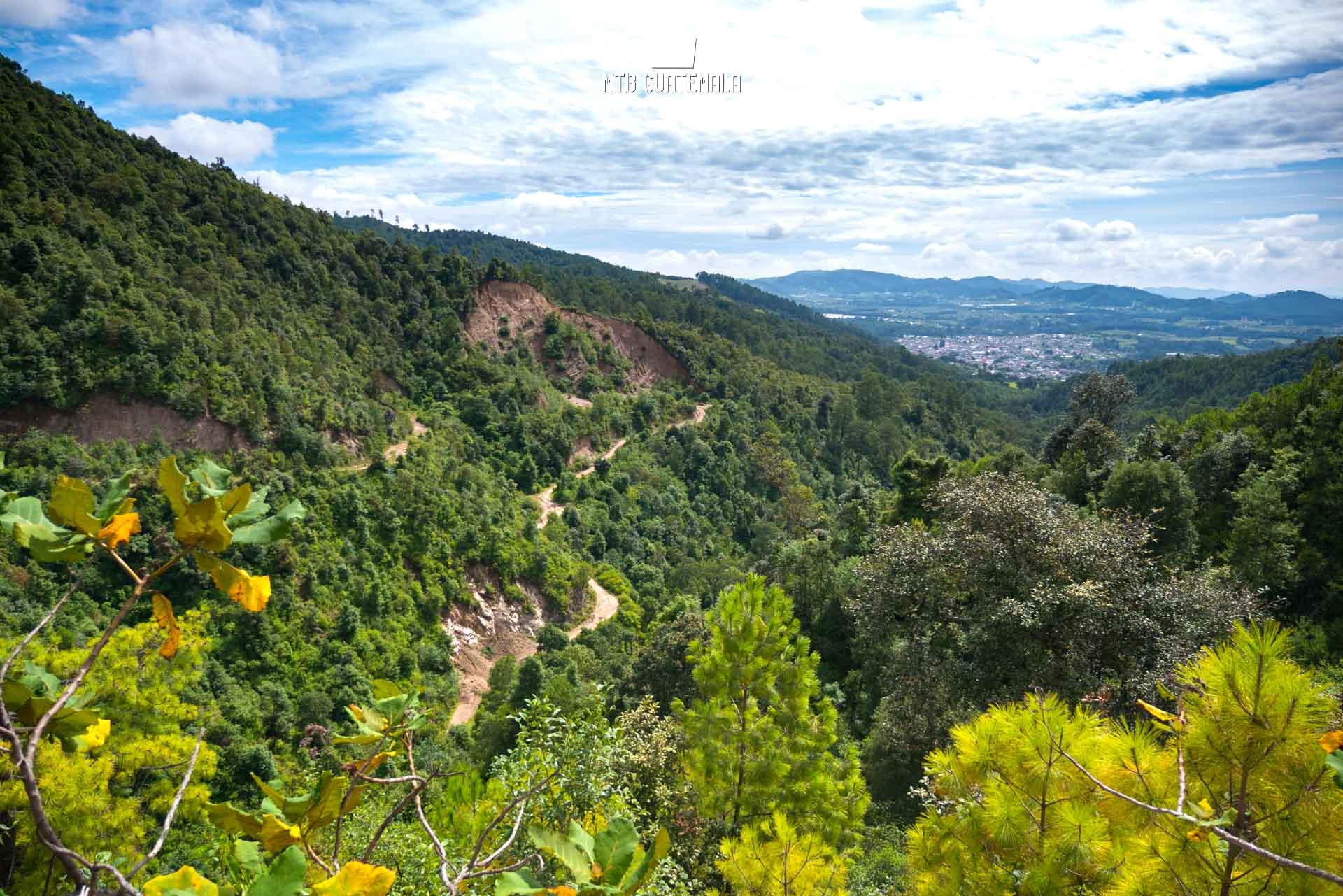 Mountain views above the town of Tecpán.