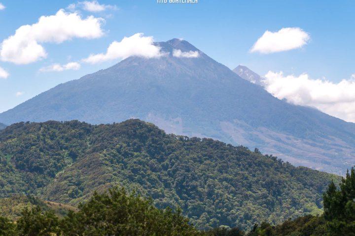Volcán Acatenango (3976m) and Active Fuego Volcano.  Valle Escondido Adventure MTB Tour  Chimaltenango, Guatemala