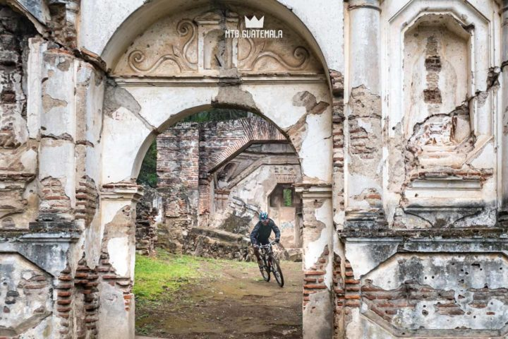 Mountain Biking in Antigua Guatemala - It's not everyday you get to ride through the ruins of a 400 year old church! La Rinconada Sacatepéquez, Guatemala