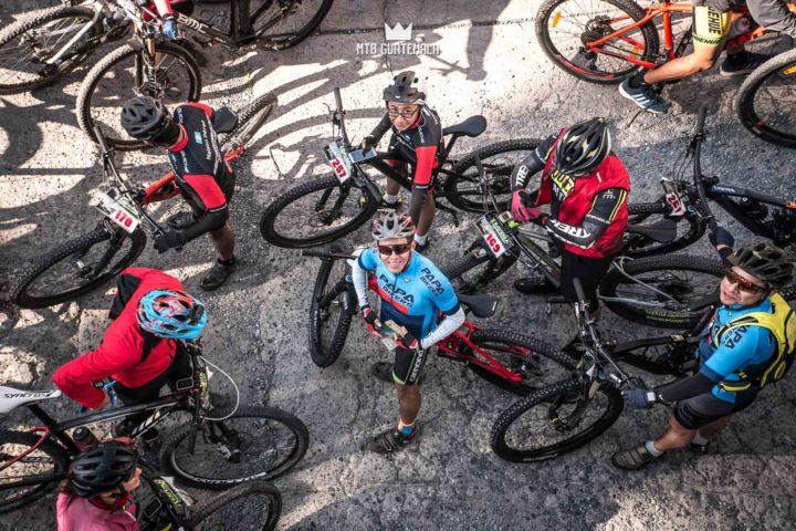 Riders prepare for the 9th edition of the Travesía de Los Cuchumatanes. Hotel Casa Blanca huehuetenango, Guatemala