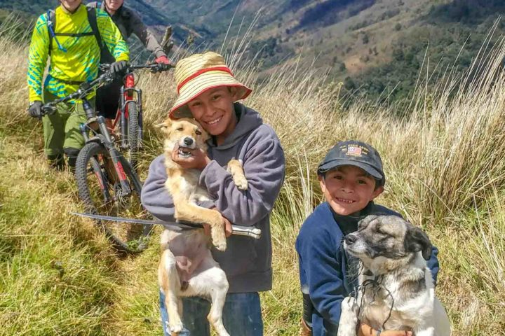 We made some new friends on the trail.  Valle Escondido Adventure MTB Tour  Chimaltenango, Guatemala