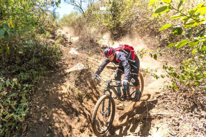 Enduro downhill - Local Jordan DeLeon shows how it{s done.  Valle Escondido Adventure Mountain Bike Tour  Chimaltenango, Guatemala