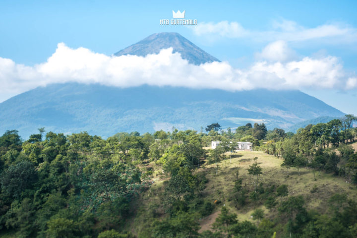 Big views of Volcán de Agua. Dos Aguacates enduro tour.  Chimaltenango, Guatemala