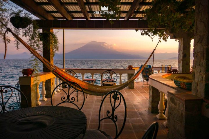 Hammock with a view. Lake Atitlán Sololá, Guatemala