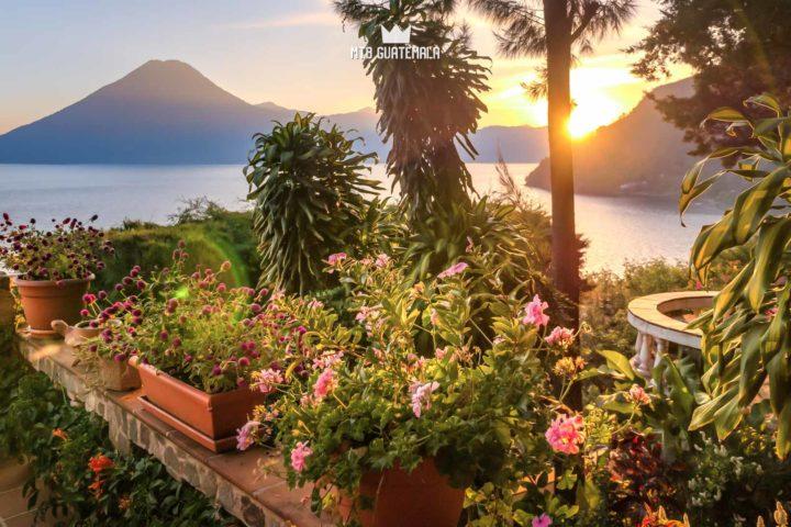Sunset from the balcony Lake Atitlán Sololá, Guatemala
