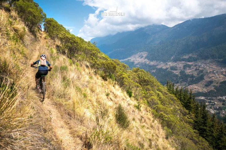 Mountain Biking in the Cuchumatánes - Riding alpine singletrack above the valley Todos Santos Los Cuchumatánes Huehuetenango, Guatemala