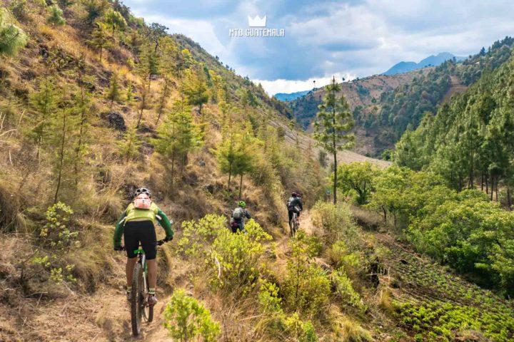 Mountain Biking in the Cuchumatánes Descending into the Valley Todos Santos Los Cuchumatánes Huehuetenango, Guatemala