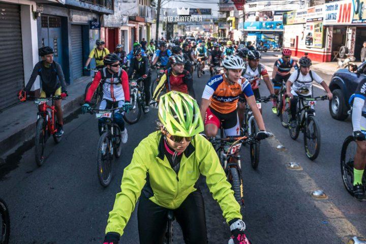 Over 300 riders take over the streets of Huehuetenango for the 9th for the 9th edition of the Travesía de Los Cuchumatanes.  Huehuetenango, Guatemala