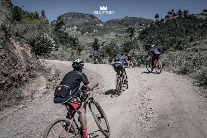 Riders make thier way up the 4,000ft climb to the top of the Cuchumatanes mountains.  Huehuetenango, Guatemala