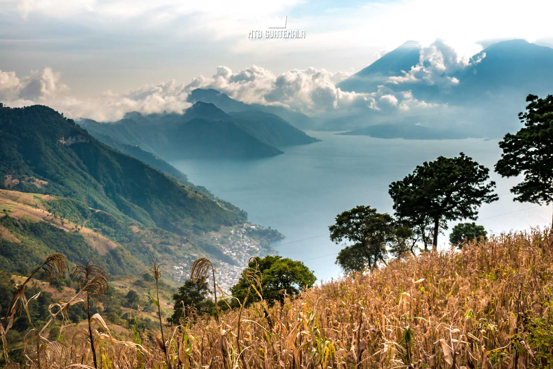 The oftentimes surreal landscapes of Lake Atitlán.