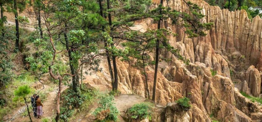 Los Riscos de Momostenango, un bello capricho de la naturaleza  Totonicapán, Guatemala