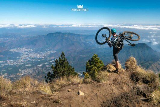 Mountain Biking the Agua Volcano Volcán de Agua , Guatemala