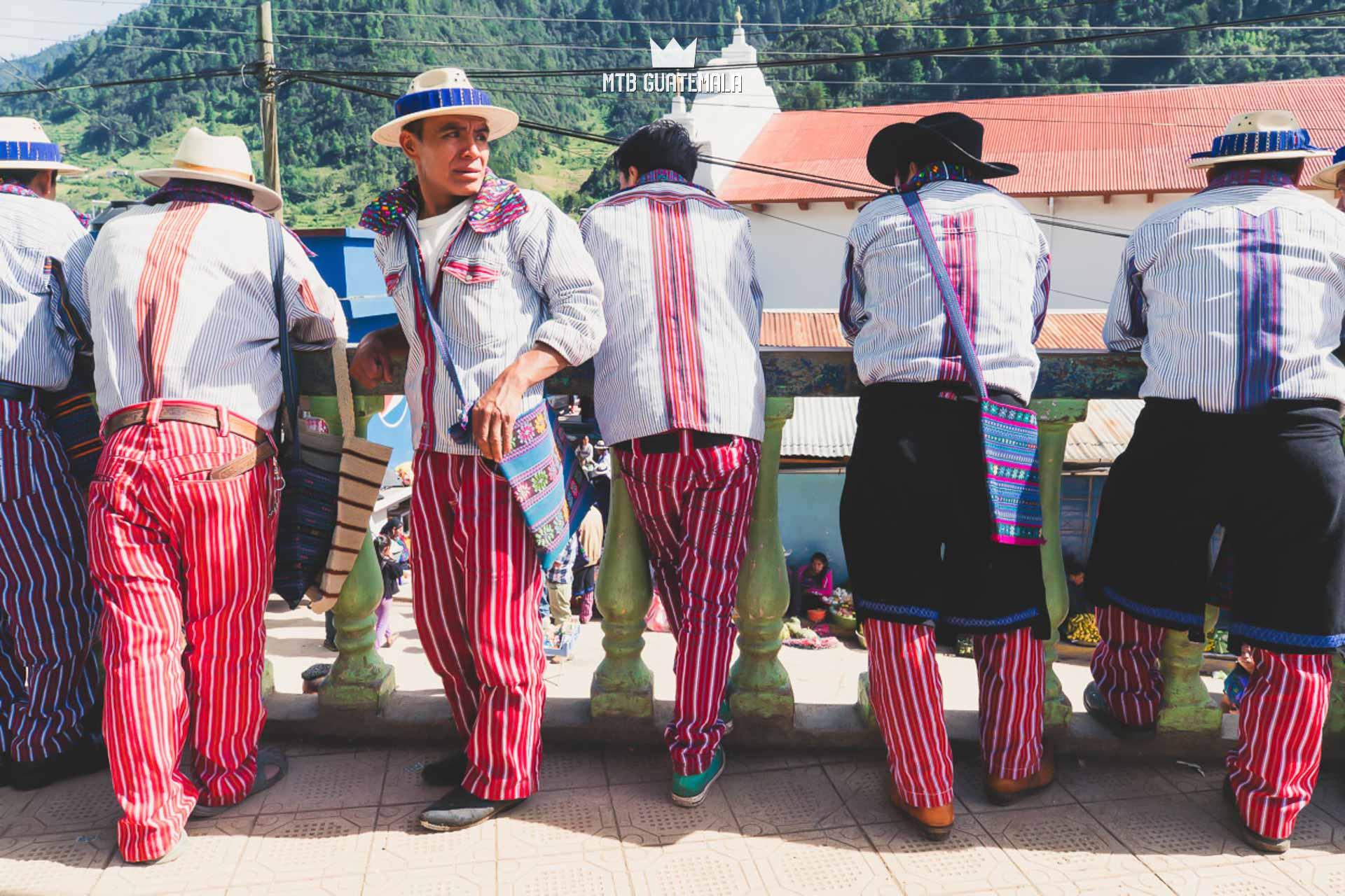 Traditional clothes of the men of Todos Santos Los Cuchumatánes , Guatemala