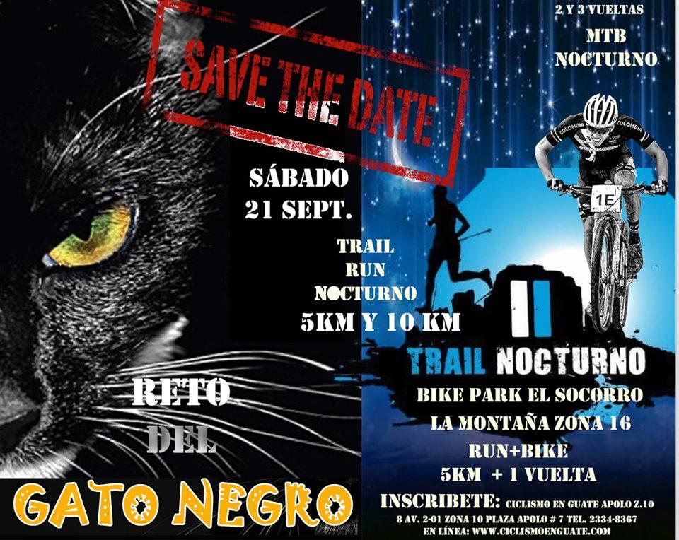 """Carrera Nocturna """"Reto Gato Negro"""""""