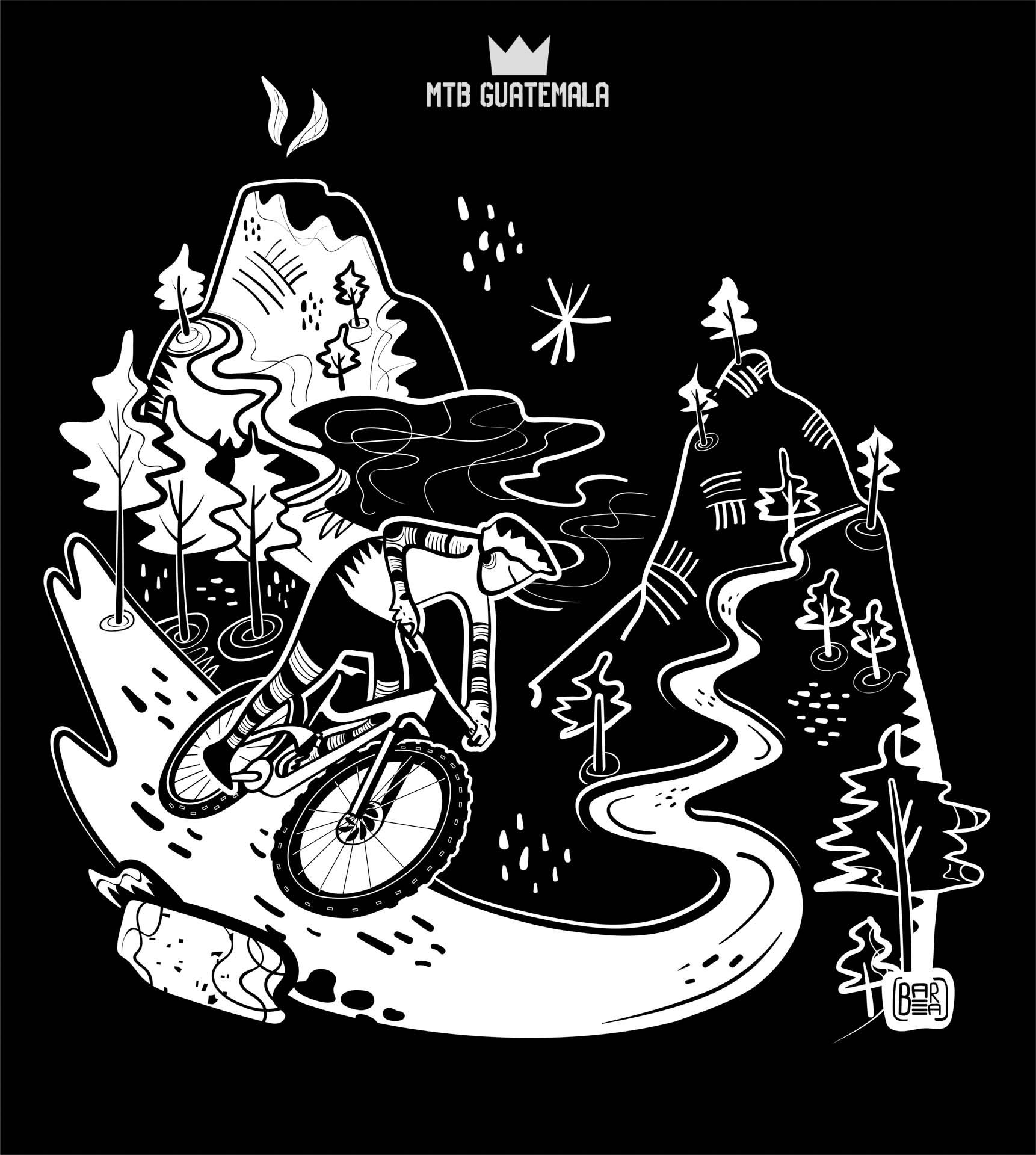 MTB Guatemla T-Shirt Design 2020