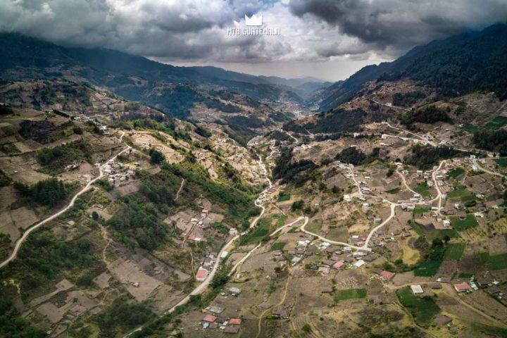 Incredible lanscapes and switchbacking roads in the Valle Todos Santos Guatemala Los Cuchumatánes Huehuetenango, Guatemala