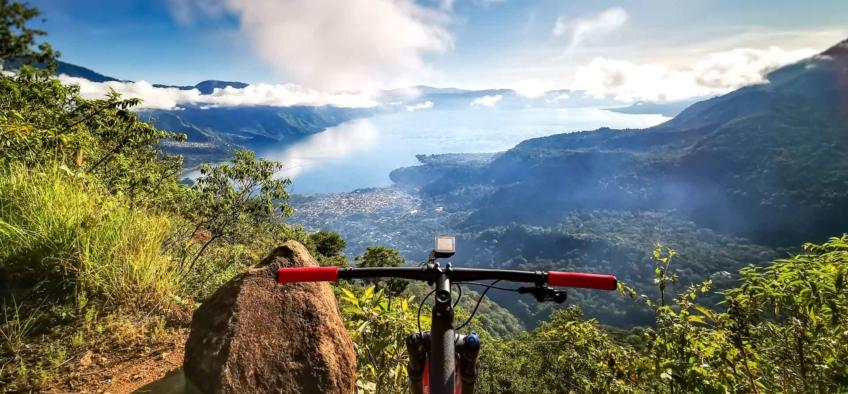 Mountain Biking at San Pedro La Laguna Lake Atitlán Sololá, Guatemala