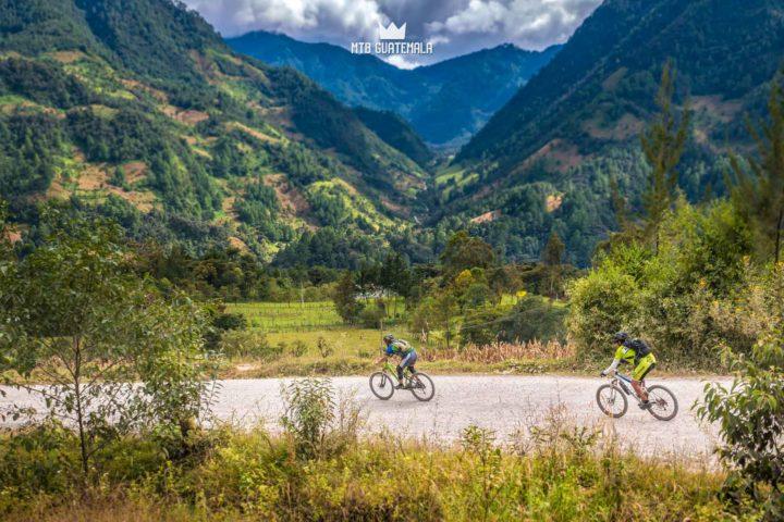 Mountain Biking in the Cuchumatánes -Steep, green mountains on the eastern side of the Cuchumatánes. Los Cuchumatánes , Guatemala