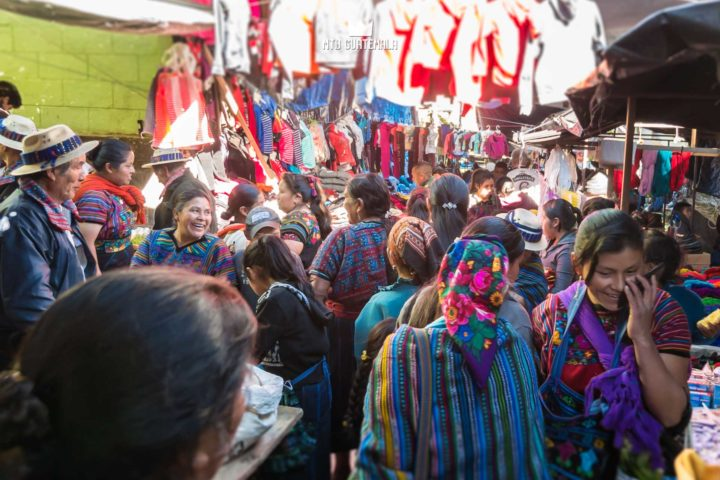 Navigating the market in Todos Santos Casa familiar Huehuetenango, Guatemala