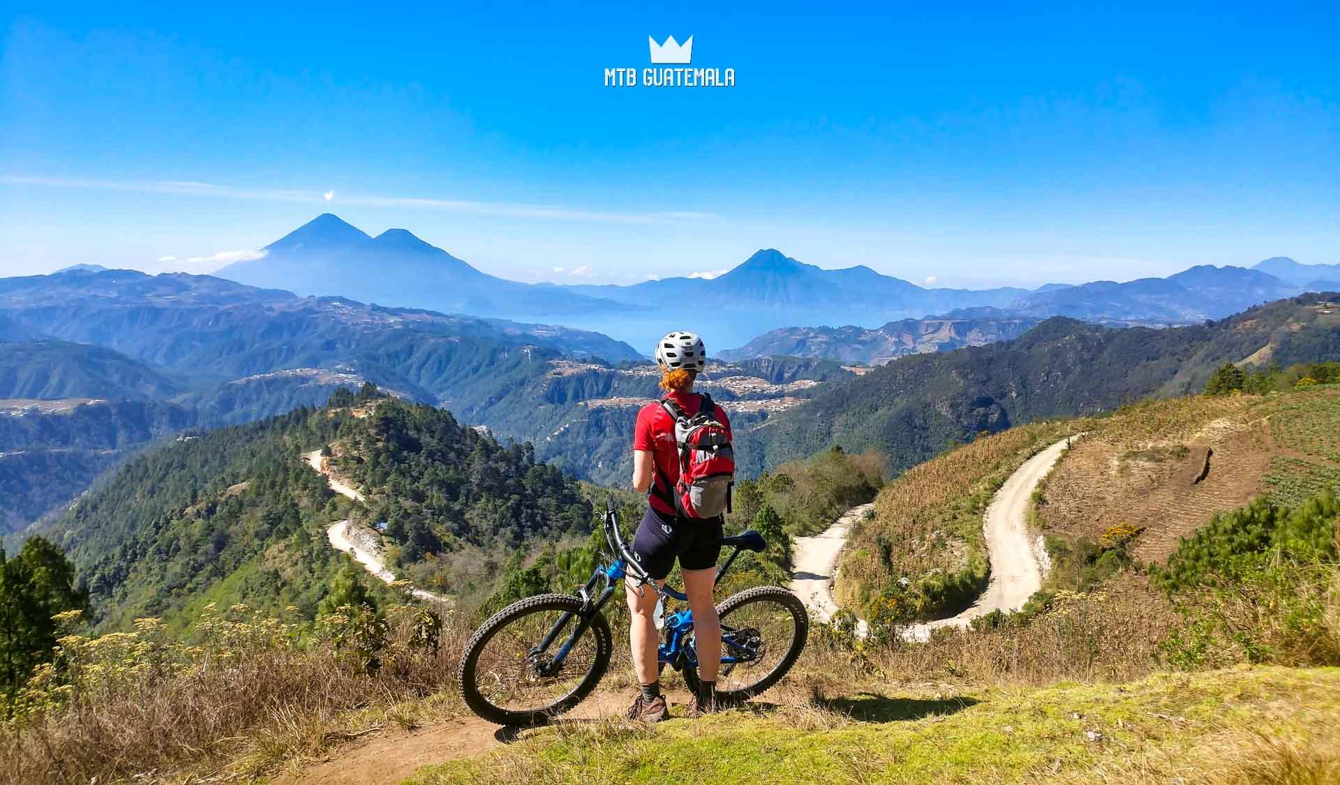 Mountain Biking at Lake Atitlán Unnamed Road , Guatemala