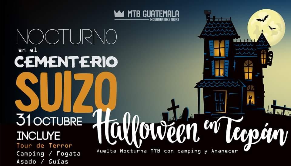 MTB Halloween en Tecpán - Nocturo en El Cementario Suizo